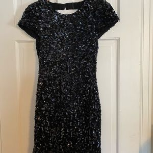 Alice & Olivia Navy Sequin Dress